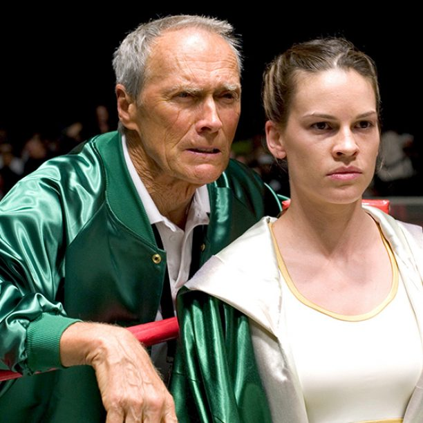 MILLION DOLLAR BABY, Clint Eastwood, Hilary Swank, 2004, (c) Warner Brothers/courtesy Everett Collection